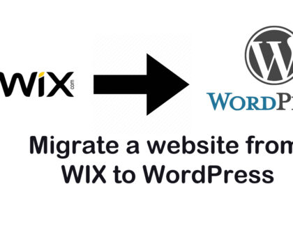 How to transfer a site from WIX to hosting with WordPress
